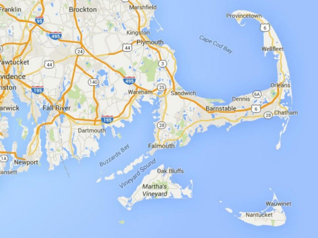 Maps Of Cape Cod, Martha's Vineyard, And Nantucket - Printable Map Of Cape Cod Ma