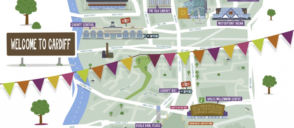 Maps Of Cardiff City And Bay - Visitor Information - Visit Cardiff - Printable Map Of Cardiff