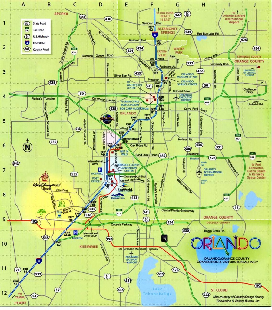 Maps Of Dallas: Orlando Florida Map - Tourist Map Of Orlando Florida