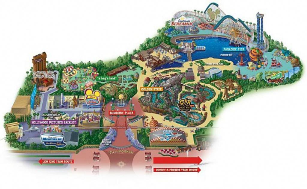 Maps Of Disneyland Resort In Anaheim, California - Disney World California Map