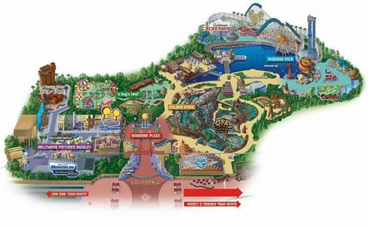 Theme Parks California Map