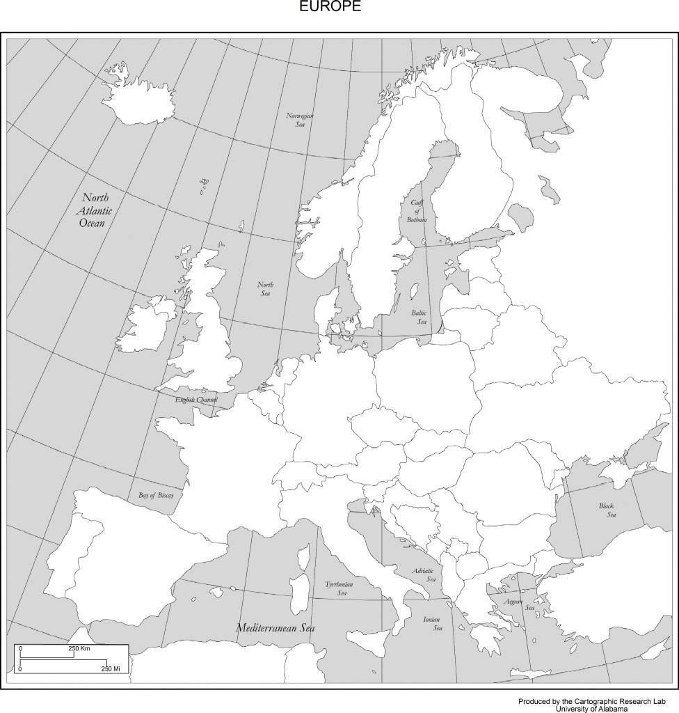 Maps Of Europe - Printable Blank Map Of European Countries