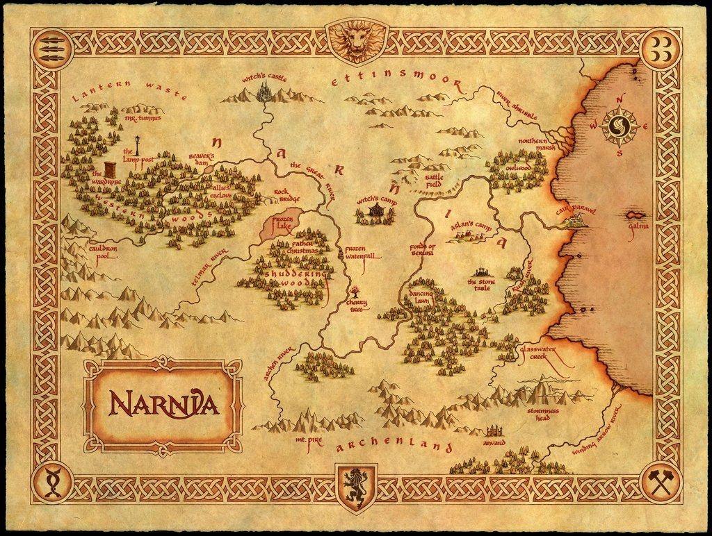 Maps Of Fantasy Lands In 2019   Vintage Printables   Map Of Narnia - Printable Map Of Narnia