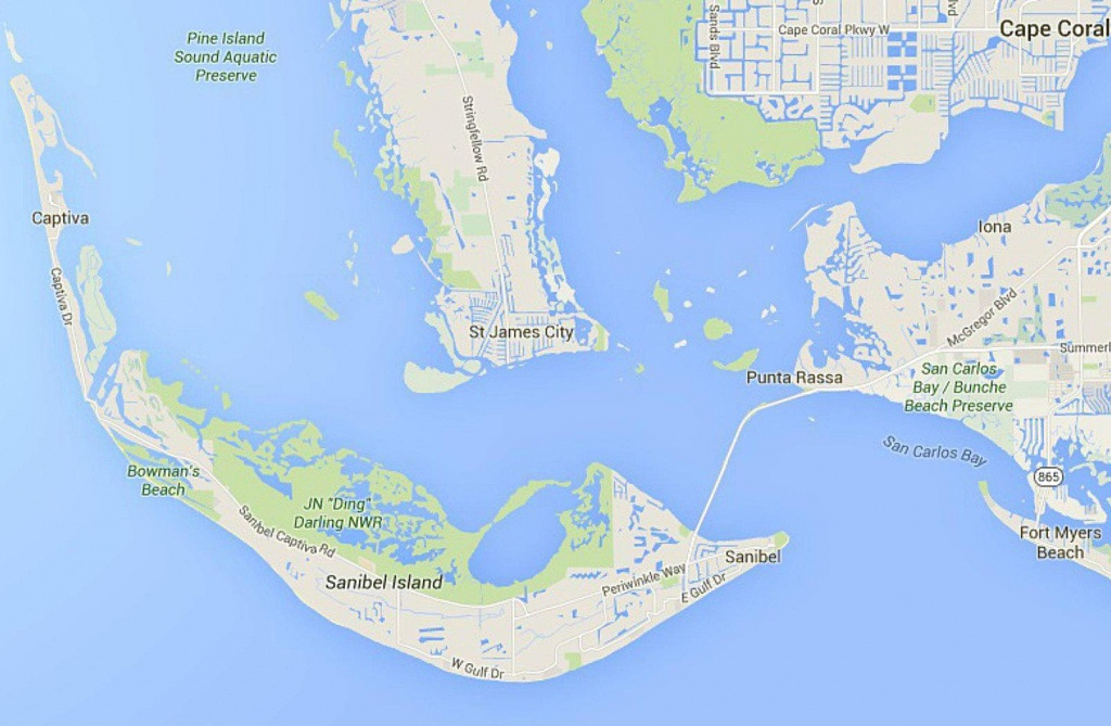Maps Of Florida: Orlando, Tampa, Miami, Keys, And More - Captiva Island Florida Map