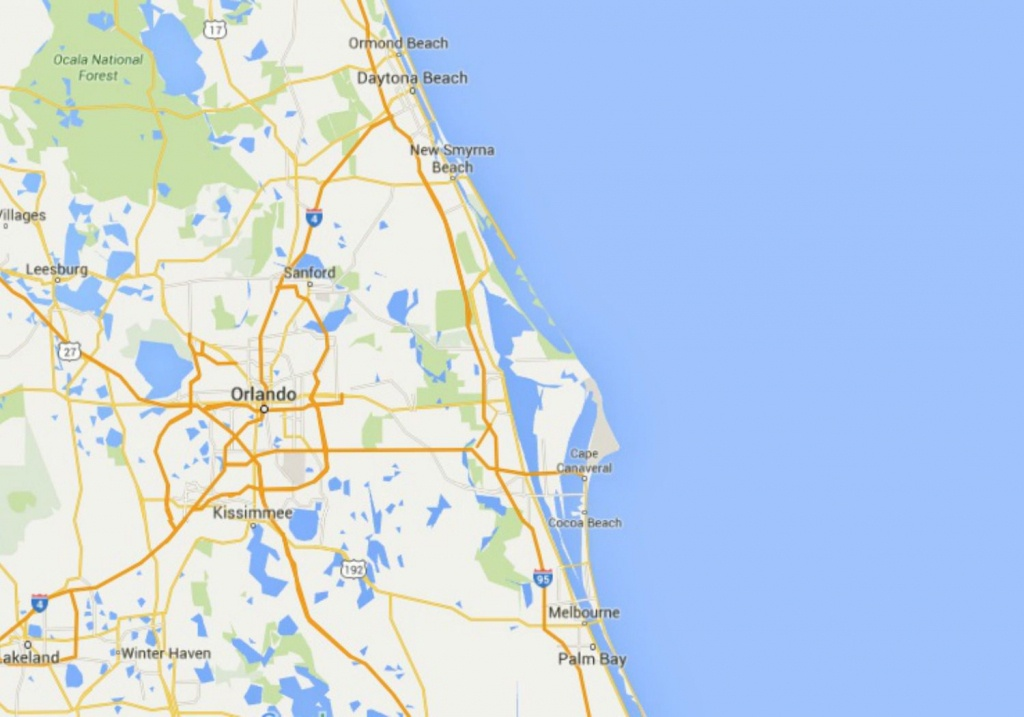 Maps Of Florida: Orlando, Tampa, Miami, Keys, And More - Google Maps Melbourne Florida