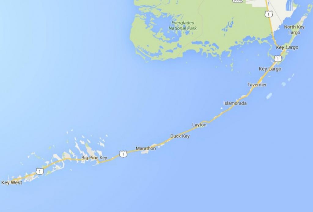 Maps Of Florida: Orlando, Tampa, Miami, Keys, And More - Long Key Florida Map