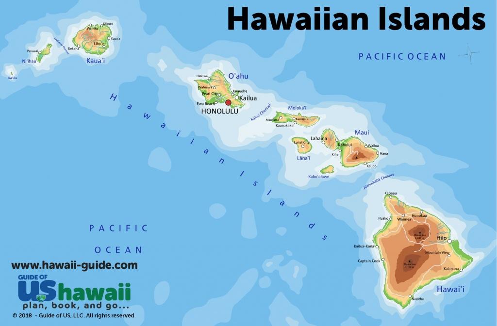Maps Of Hawaii: Hawaiian Islands Map - Printable Map Of Hawaiian Islands