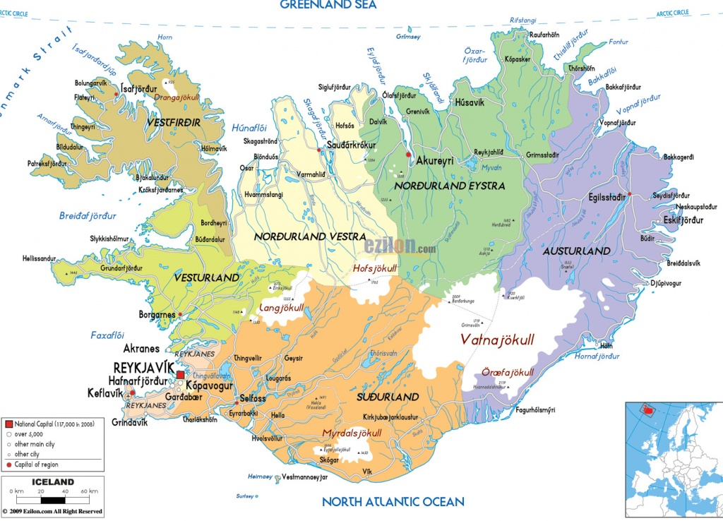Maps Of Iceland | Detailed Map Of Iceland In English |Tourist Map Of - Printable Driving Map Of Iceland