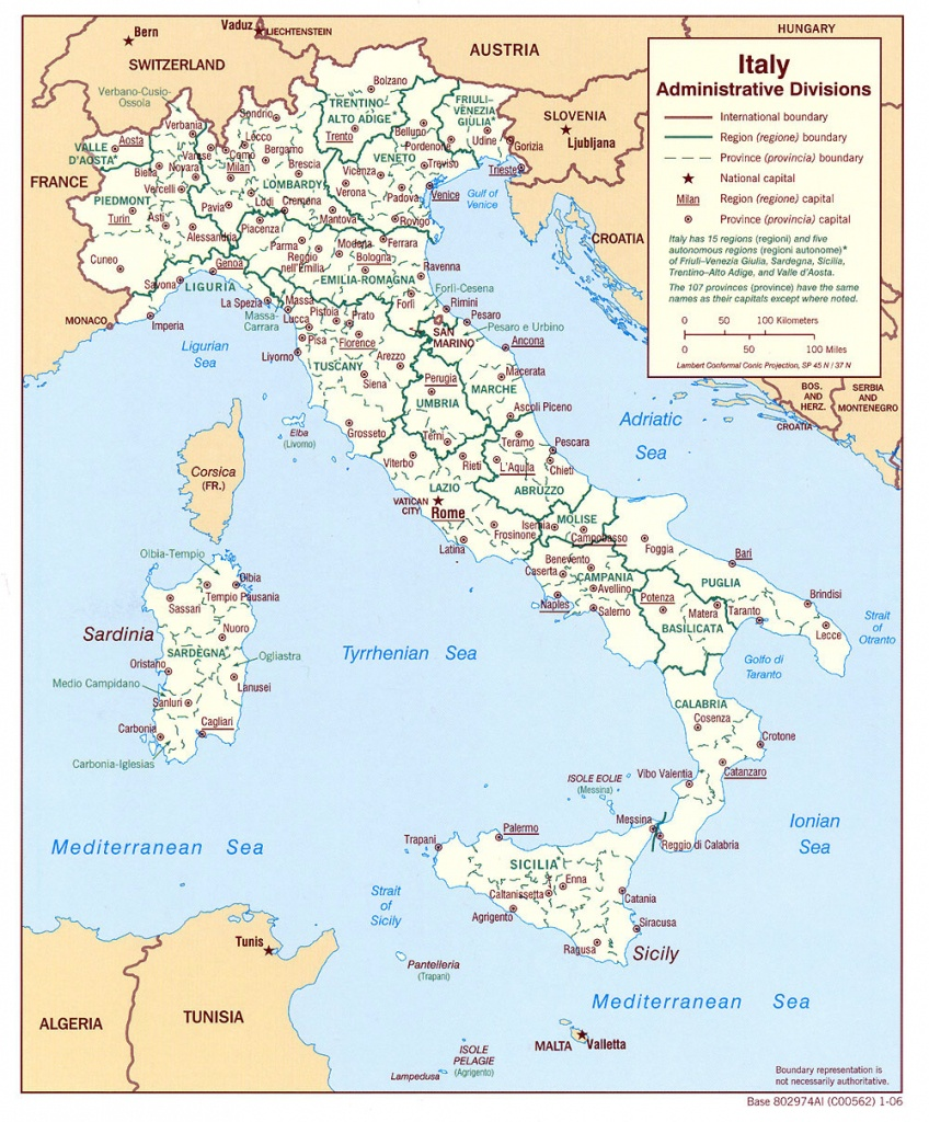 Maps Of Italy   Detailed Map Of Italy In English   Tourist Map Of - Printable Map Of Italy With Cities And Towns