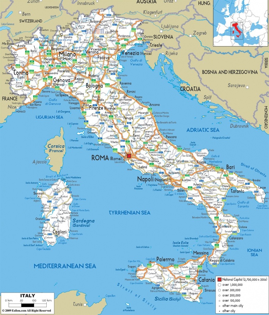 Maps Of Italy | Detailed Map Of Italy In English | Tourist Map Of - Printable Map Of Italy With Cities And Towns