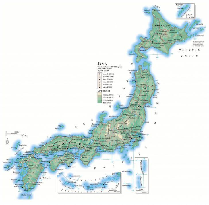 Large Printable Map Of Japan