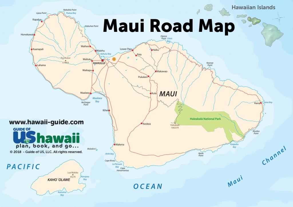 Maps Of Maui Hawaii - Printable Map Of Maui