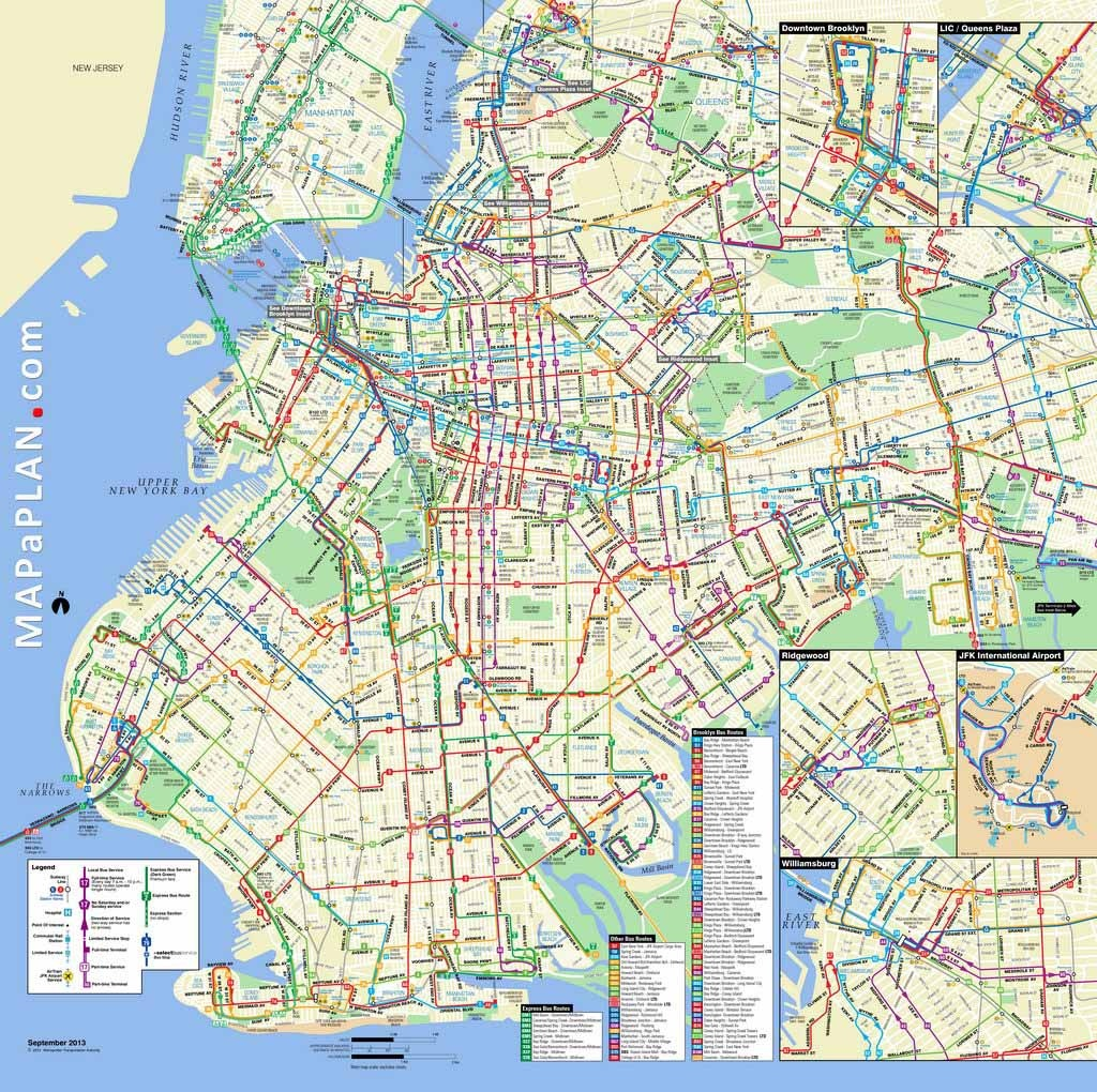 Maps Of New York Top Tourist Attractions - Free, Printable - Brooklyn Street Map Printable