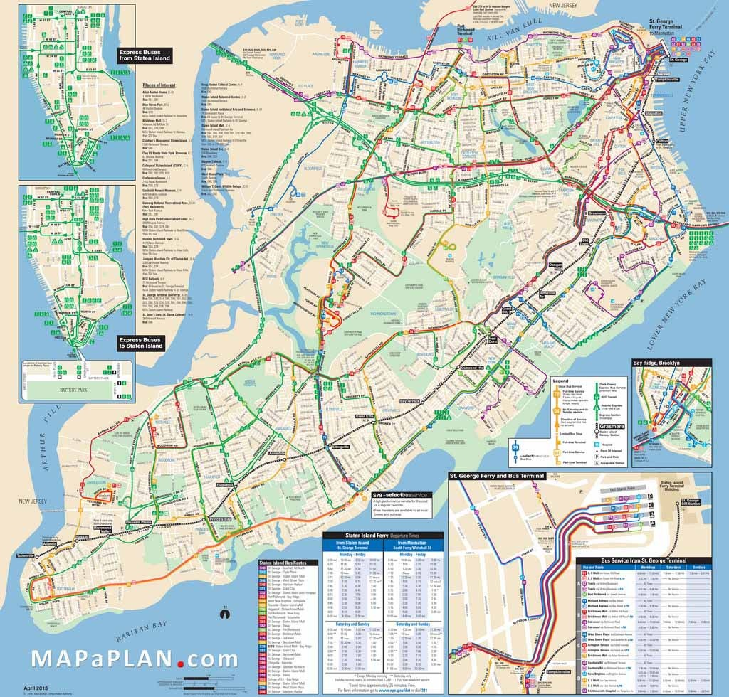 Maps Of New York Top Tourist Attractions - Free, Printable - Free Printable Aerial Maps