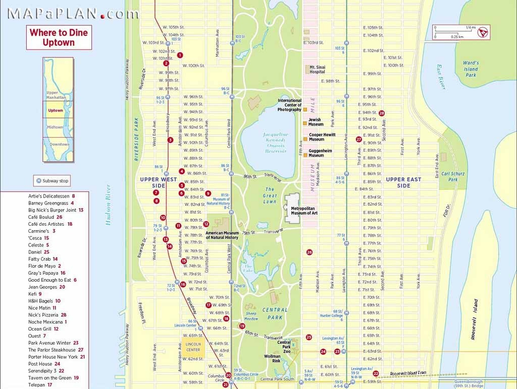 Maps Of New York Top Tourist Attractions - Free, Printable - New York City Maps Manhattan Printable