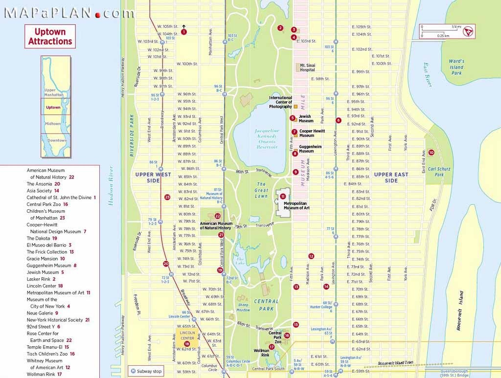 Maps Of New York Top Tourist Attractions - Free, Printable - New York City Street Map Printable