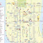 Maps Of New York Top Tourist Attractions   Free, Printable   Printable Map Manhattan Pdf