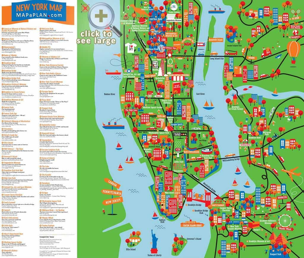 Maps Of New York Top Tourist Attractions - Free, Printable - Printable Map Of New York City Landmarks