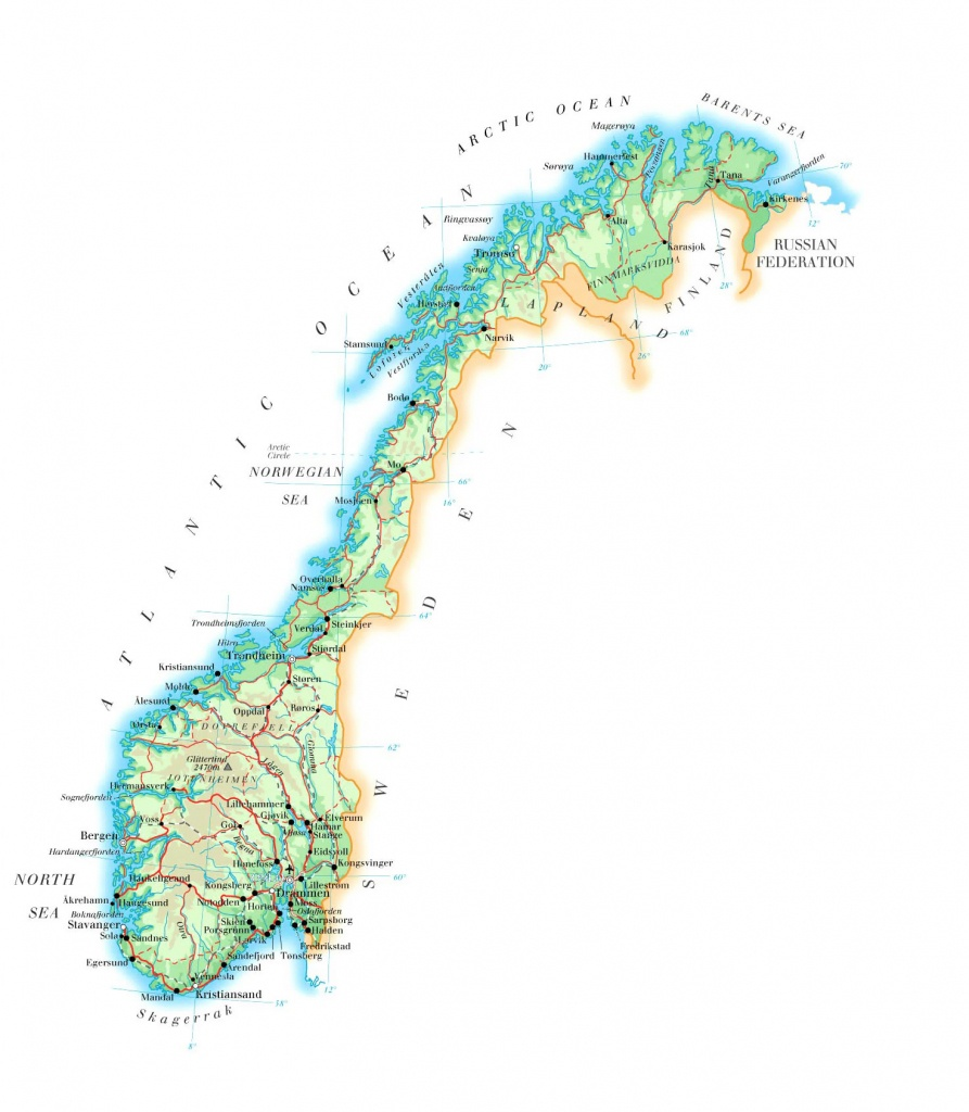 Maps Of Norway | Detailed Map Of Norway In English | Tourist Map Of - Printable Map Of Norway