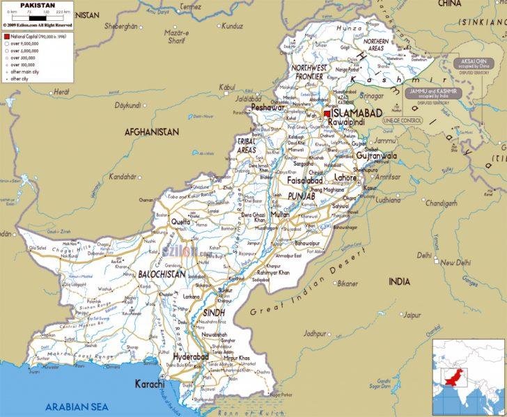 Printable Map Of Pakistan