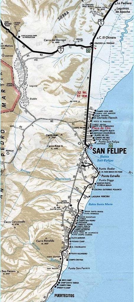 Maps Of San Felipe And Northern Baja San Felipe Real Estate - Baja California Real Estate Map