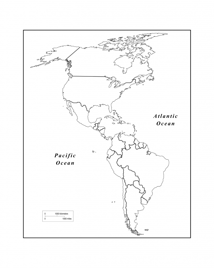 Maps Of The Americas Page 2 Within Blank Map Of The Americas - Printable Map Of The Americas