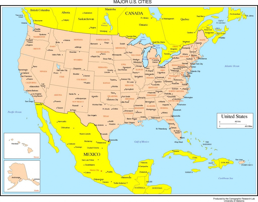 Maps Of The United States - Printable Us Map With Cities