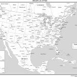 Maps Of The United States - Usa Map Black And White Printable