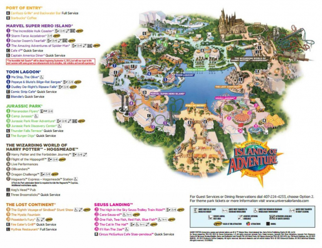 Maps Of Universal Orlando Resort's Parks And Hotels - Printable Map Of Universal Studios Orlando