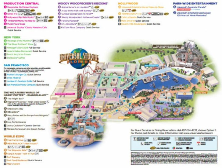 Universal Studios Florida Citywalk Map
