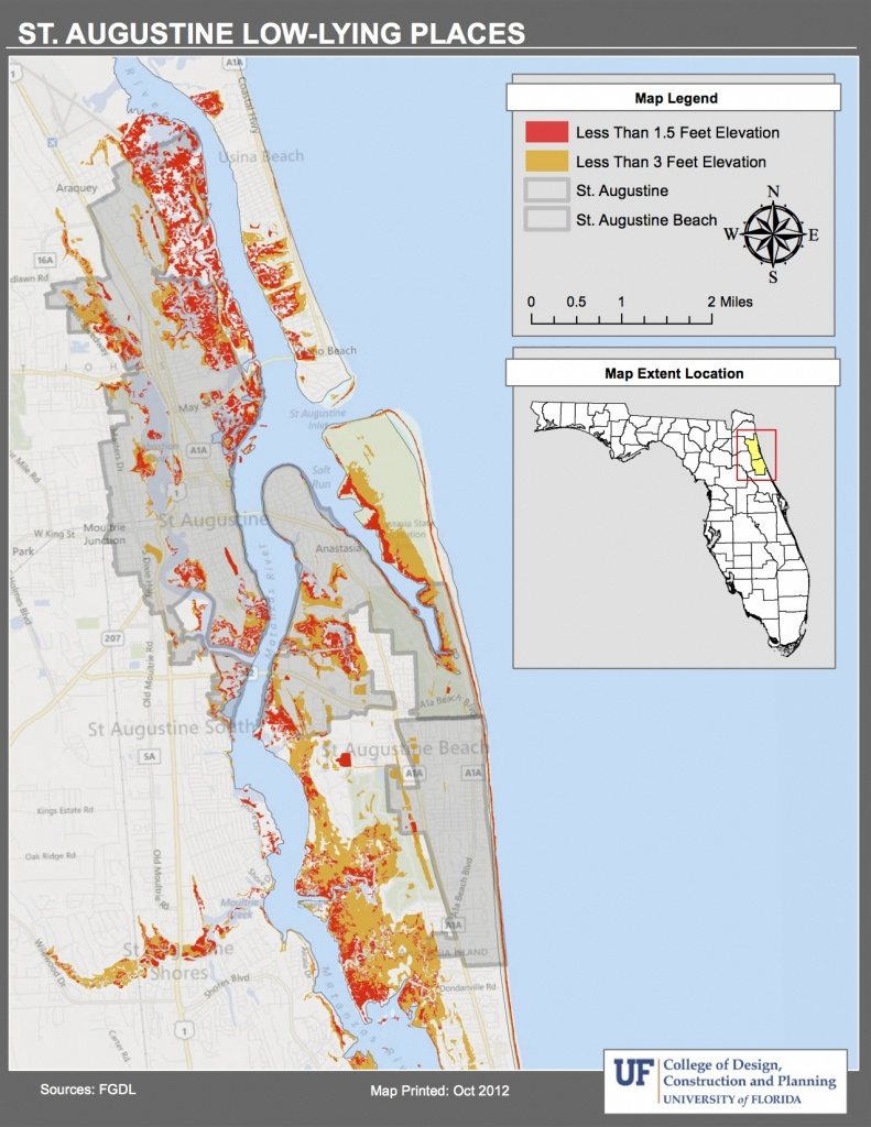 Maps | Planning For Sea Level Rise In The Matanzas Basin - Florida Elevation Map