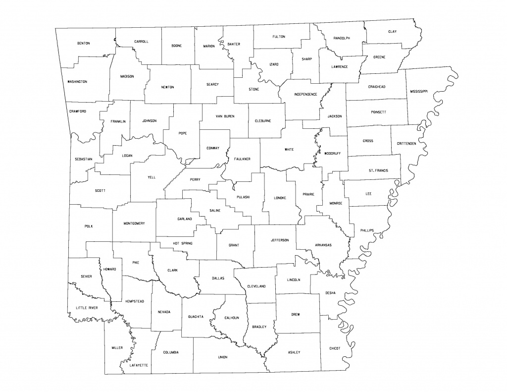 Maps - Printable Map Of Arkansas