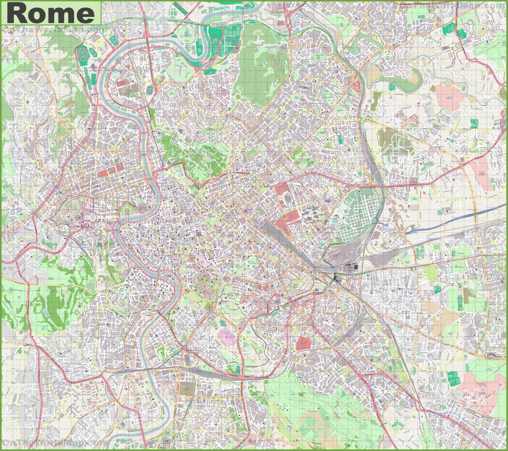 Maps. Street Map Of Rome Italy - Diamant-Ltd - Street Map Of Rome Printable