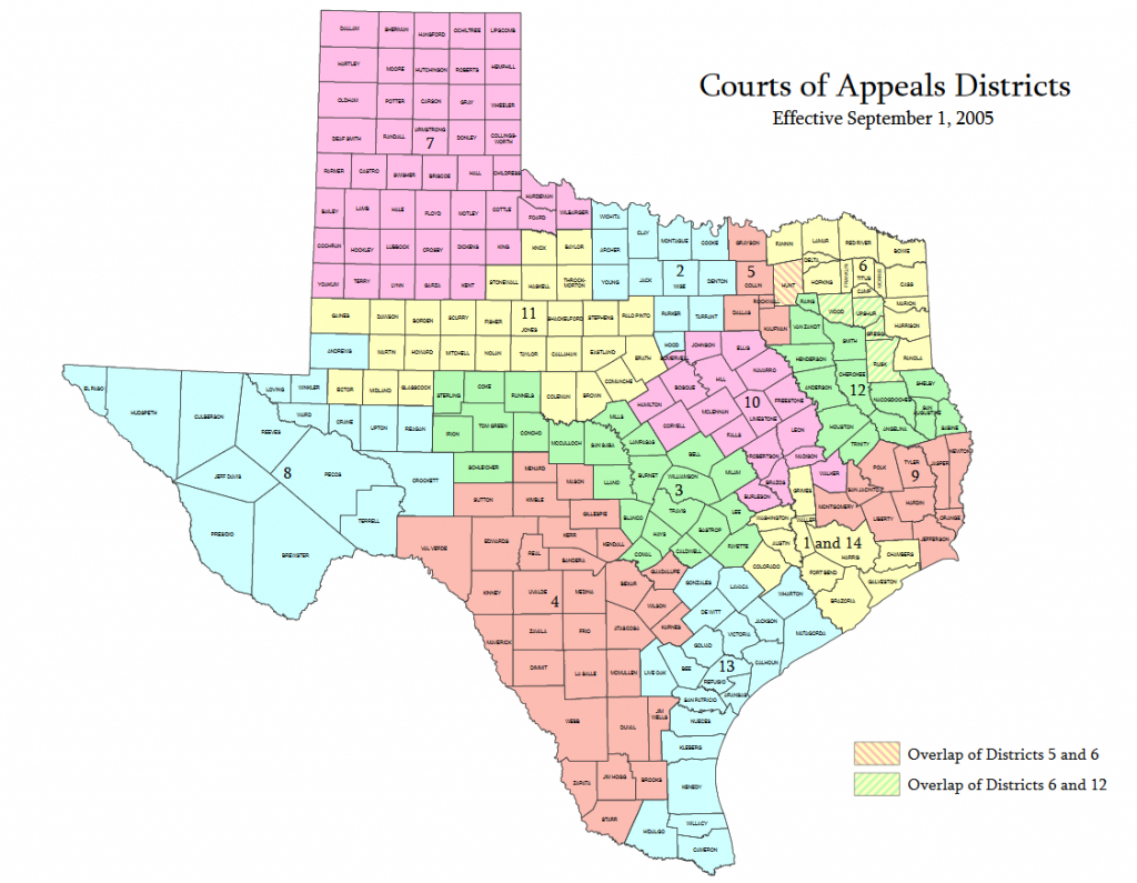 Maps & Texas Courts Generally - Texas Courts And Court Rules - Rule Texas Map