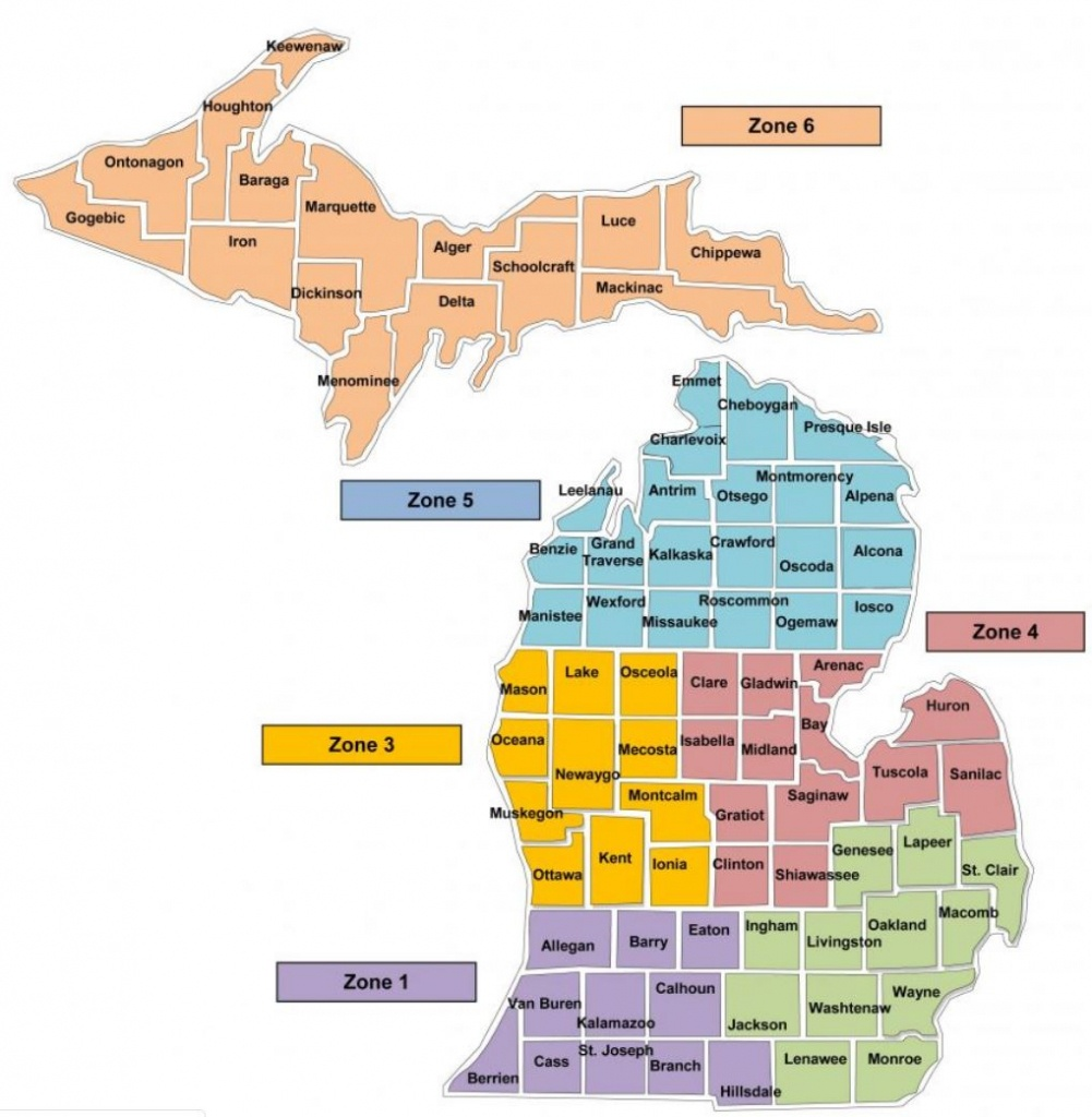 Maps To Print And Play With - Michigan County Maps Printable