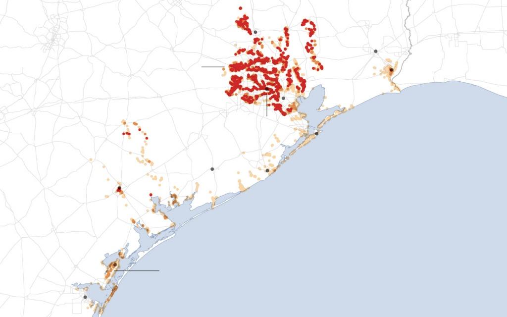 Maps: Tracking Harvey's Destructive Path Through Texas And Louisiana - Orange County Texas Flood Zone Map