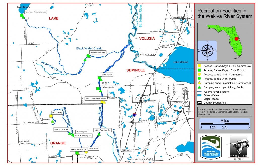 Maps | Wekiva River Systemwekiva River System - Map Of Natural Springs In Florida