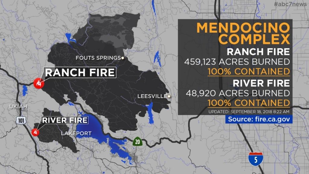 Maps: Wildfires Burning Across California | Abc7News - Interactive Map Of California Fires