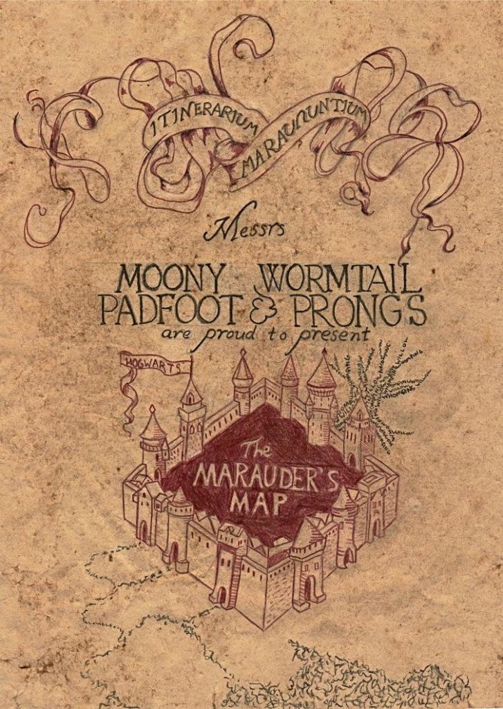 Marauder's Map | Harry Potter | Harry Potter, Marauders Map - Harry Potter Map Marauders Free Printable