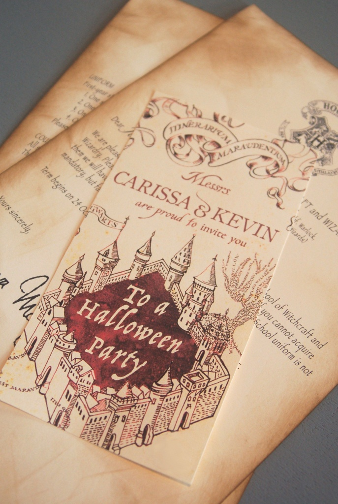 Marauder's Map Invitations   Birthday   Harry Potter Halloween Party - Free Printable Marauders Map