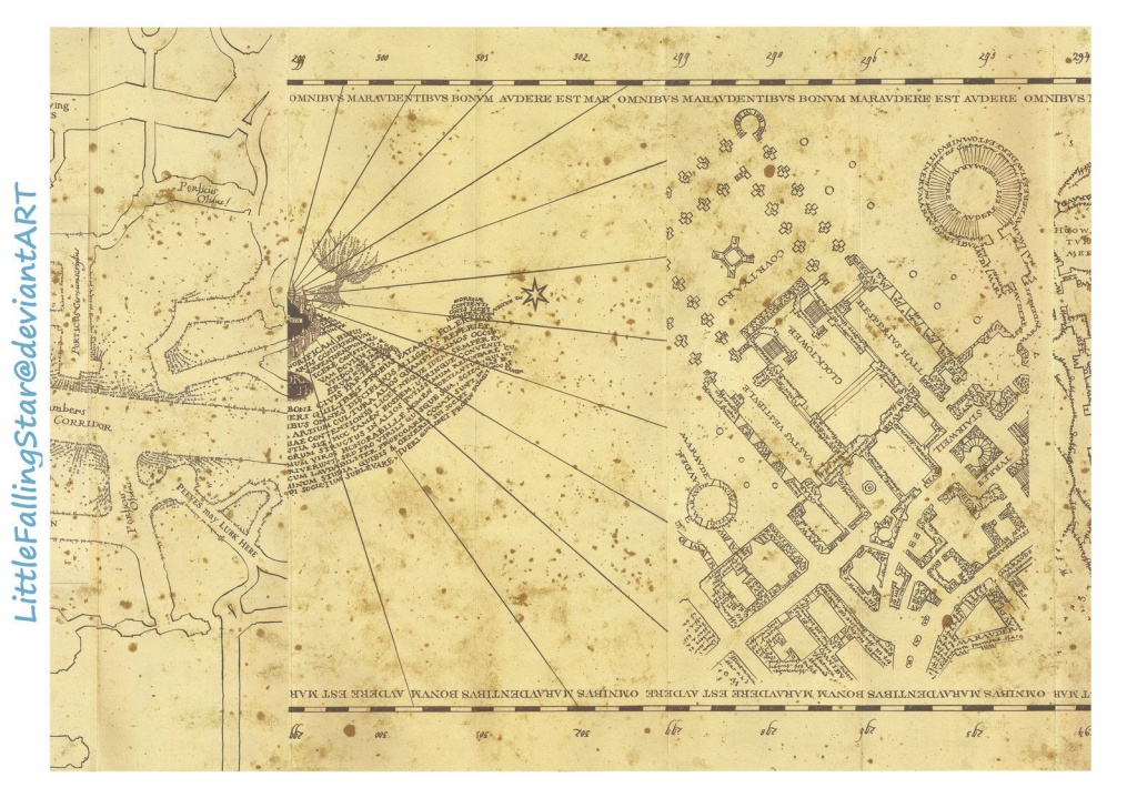 Marauders Map Page 3Littlefallingstar.deviantart On - Harry Potter Marauders Map Printable