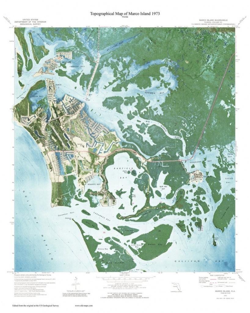 Marco Island Florida 1973 Usgs Custom Old Topo Map West | Etsy - Marco Island Florida Map