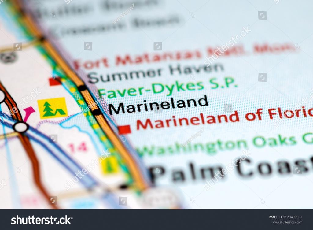 Marineland Florida Usa On Map Stock Photo (Edit Now) 1120490987 - Marineland Florida Map