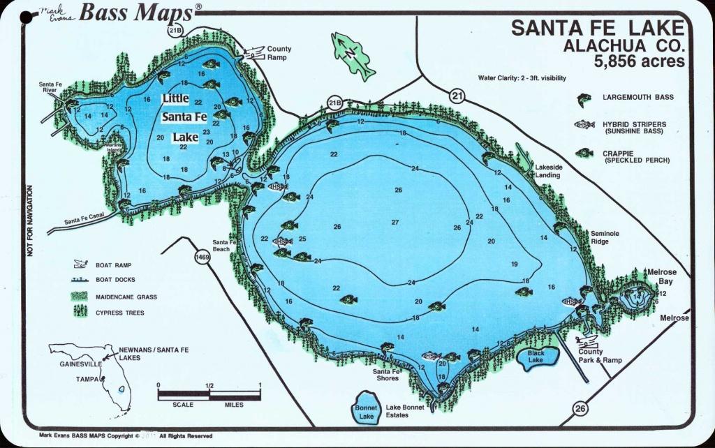 Mark Evans Maps - Florida Fishing Lakes Map