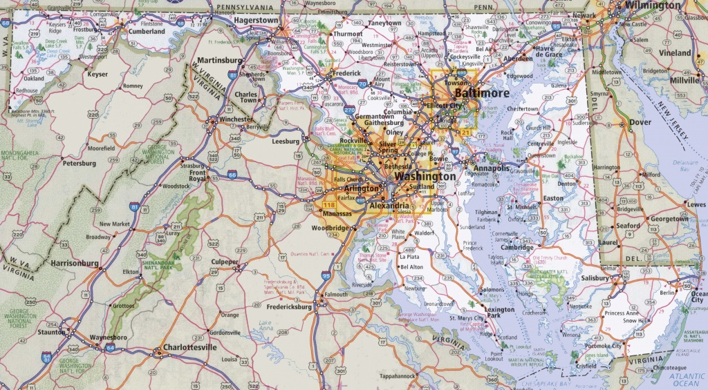 Maryland State Maps   Usa   Maps Of Maryland (Md) - Printable Map Of Annapolis Md