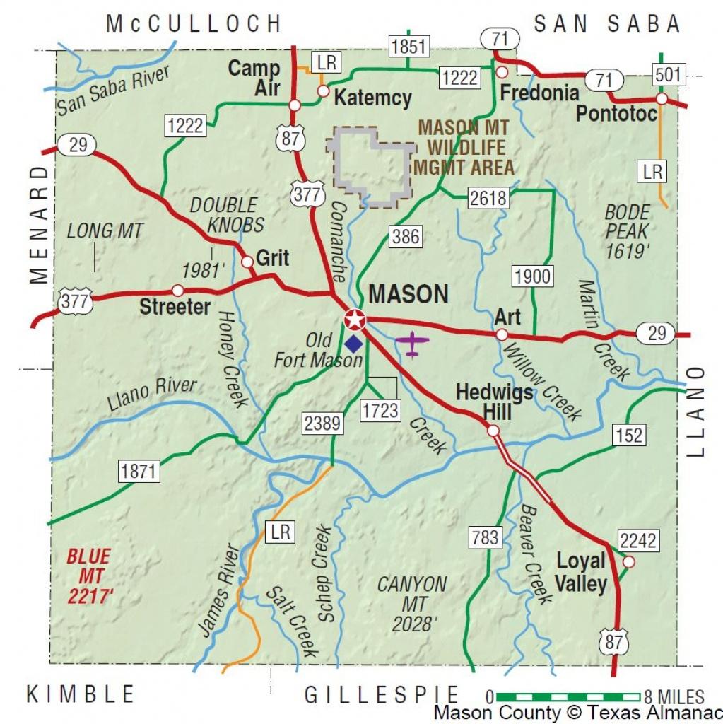 Mason County   The Handbook Of Texas Online  Texas State Historical - Llano Texas Map