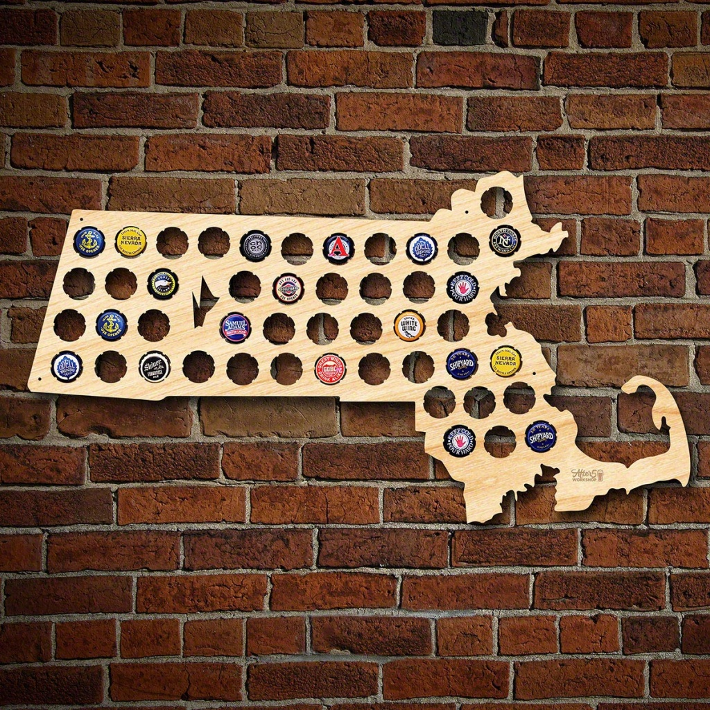 Massachusetts Beer Cap Map - Florida Beer Cap Map