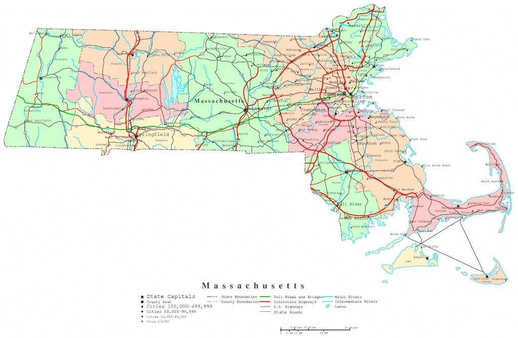 Massachusetts Printable Map - Printable Map Of Massachusetts