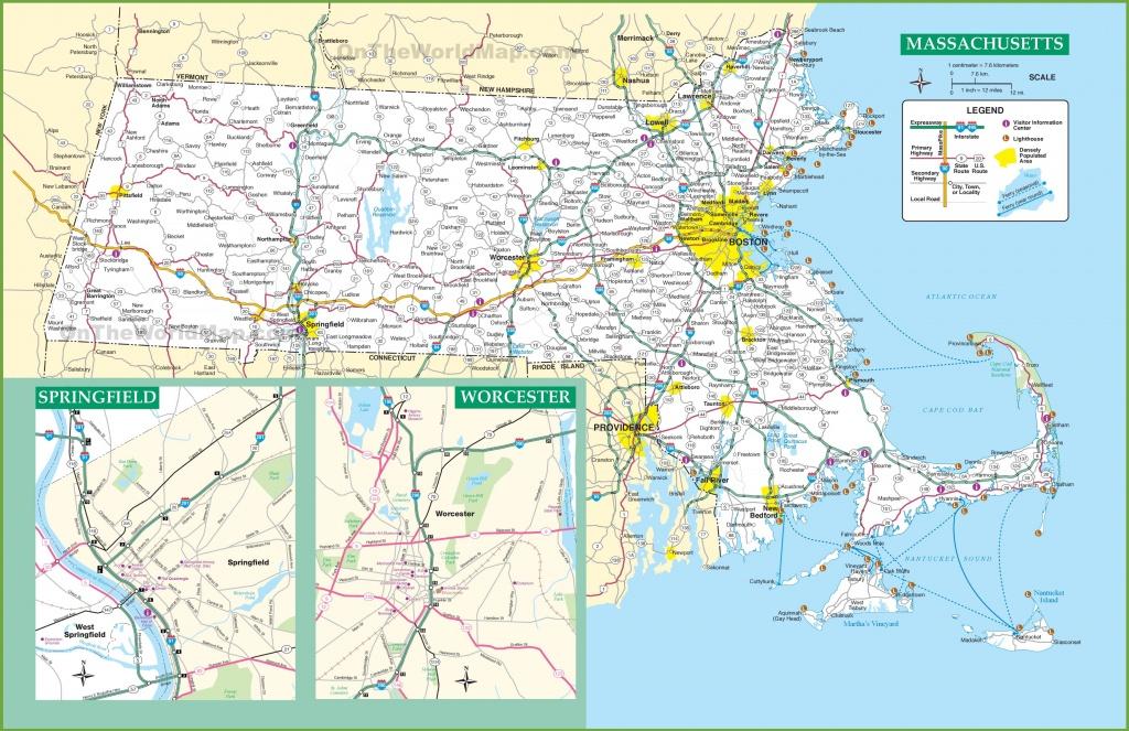 Massachusetts Road Map - Printable Map Of Massachusetts Towns