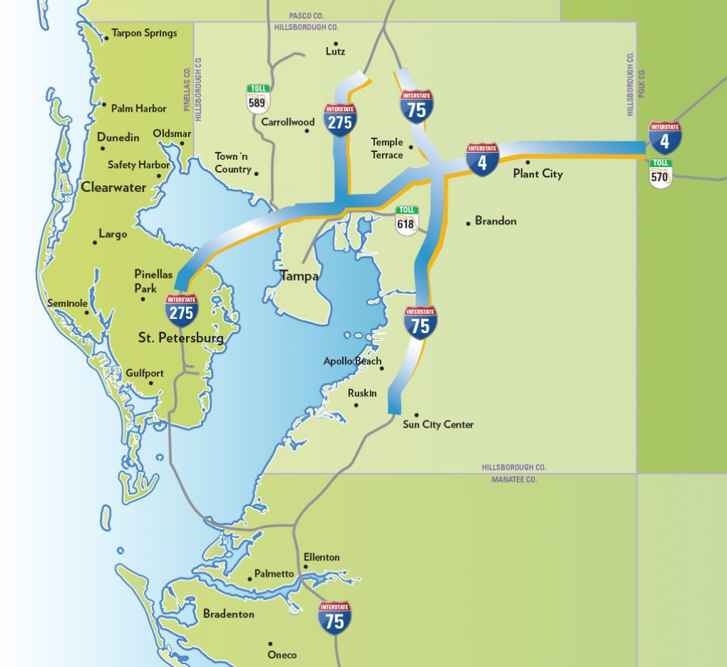 Massive Highway Expansion Threatens To Destroy Tampa Neighborhoods - Map Of Florida Showing Tampa And Clearwater